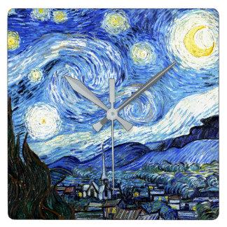 Van Gogh Starry Night Impressionism Art Wall Clock