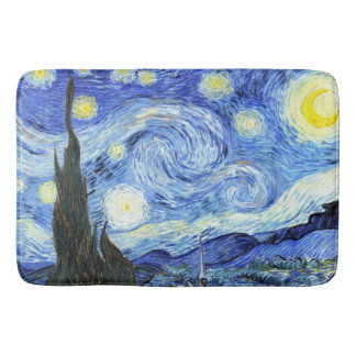 Van Gogh Starry Night Impressionism Bath Mat