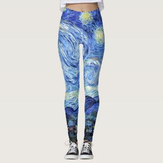 Van Gogh Starry Night Impressionism Print Leggings