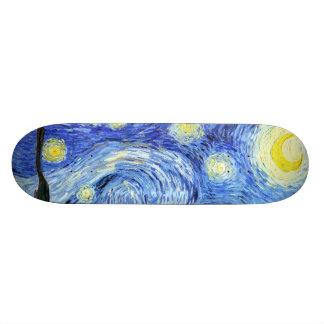 Van Gogh Starry Night Impressionism Skateboard