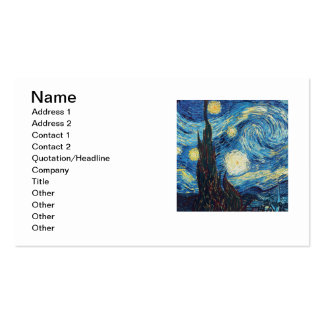 Van Gogh Starry Night Impressionist Painting Business Cards