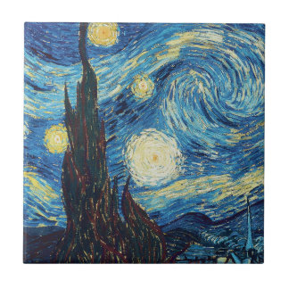 Van Gogh Starry Night Impressionist Painting Ceramic Tile
