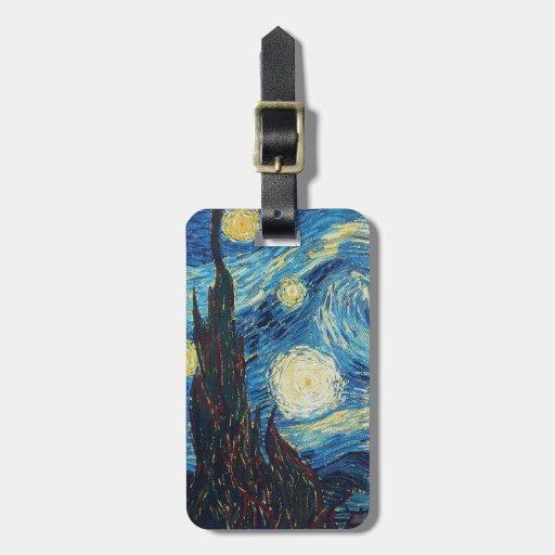 Van Gogh Starry Night Impressionist Painting Bag Tag