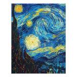 Van Gogh Starry Night Inivtations Personalized Invitation