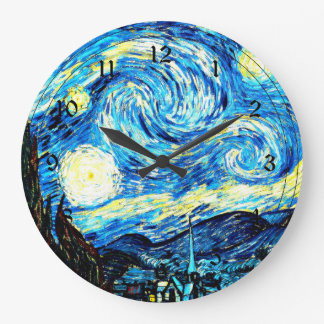 Van Gogh - Starry Night Large Clock