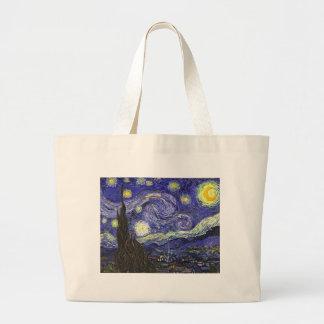 Van Gogh Starry Night Large Tote Bag