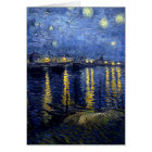 Van Gogh Starry Night Over Rhone Card
