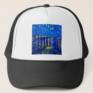 Van Gogh Starry Night Over Rhone Trucker Hat