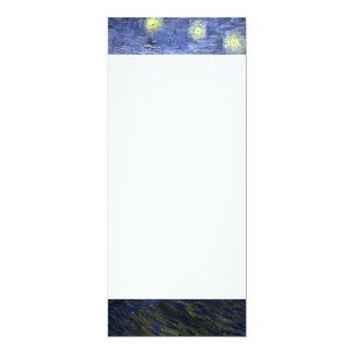 Van Gogh | Starry Night Over The Rhone | 1888 10 Cm X 24 Cm Invitation Card