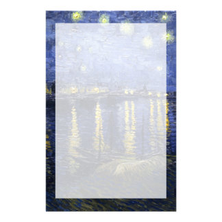 Van Gogh | Starry Night Over The Rhone | 1888 Customized Stationery