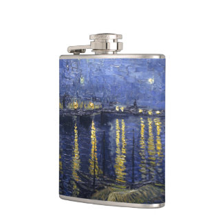 Van Gogh | Starry Night Over The Rhone | 1888 Hip Flask