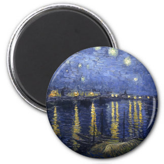 Van Gogh | Starry Night Over The Rhone | 1888 6 Cm Round Magnet