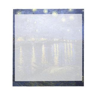 Van Gogh | Starry Night Over The Rhone | 1888 Memo Pad