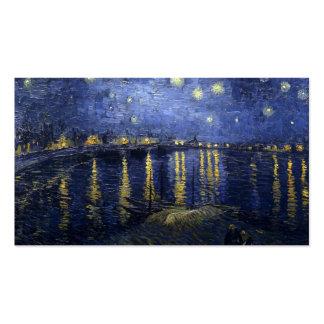 Van Gogh   Starry Night Over The Rhone   1888 Pack Of Standard Business Cards