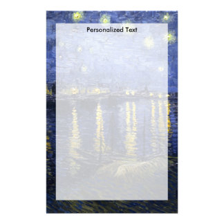 Van Gogh | Starry Night Over The Rhone | 1888 Personalised Stationery