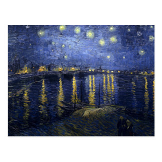Van Gogh   Starry Night Over The Rhone   1888 Postcard