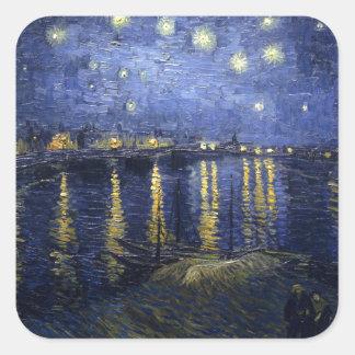 Van Gogh | Starry Night Over The Rhone | 1888 Square Sticker
