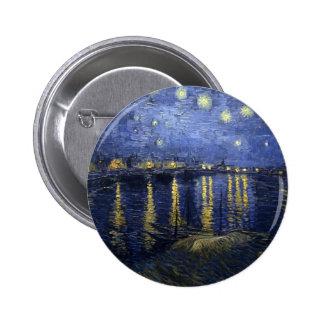Van Gogh Starry Night Over the Rhone 6 Cm Round Badge