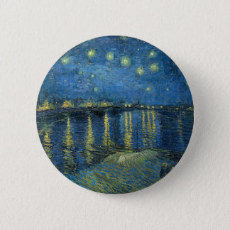 Van Gogh: Starry Night Over the Rhone 6 Cm Round Badge