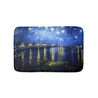Van Gogh - Starry Night over the Rhone Bath Mat