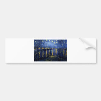 Van Gogh: Starry Night Over the Rhone Bumper Sticker