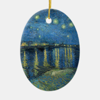 Van Gogh: Starry Night Over the Rhone Ceramic Ornament