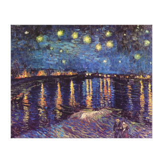 Van Gogh Starry Night Over the Rhone, Fine Art Gallery Wrapped Canvas