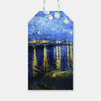 Van Gogh - Starry Night over the Rhone Gift Tags