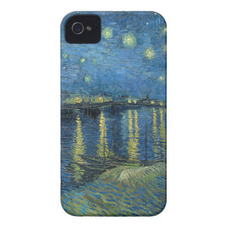 Van Gogh: Starry Night Over the Rhone iPhone 4 Case-Mate Case
