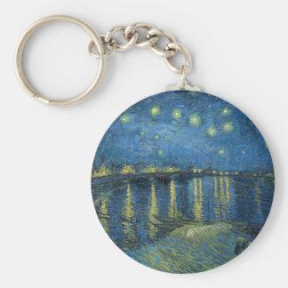 Van Gogh: Starry Night Over the Rhone Key Ring