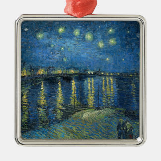 Van Gogh: Starry Night Over the Rhone Metal Ornament