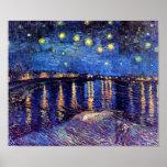 Van Gogh Starry Night Over The Rhone Poster