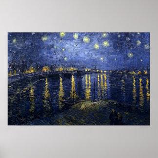 Van Gogh Starry Night Over The Rhone Print