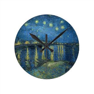 Van Gogh: Starry Night Over the Rhone Round Clock