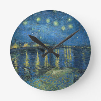 Van Gogh: Starry Night Over the Rhone Round Clock