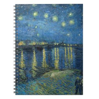 Van Gogh: Starry Night Over the Rhone Spiral Notebook