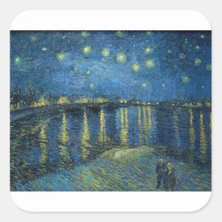 Van Gogh: Starry Night Over the Rhone Square Sticker