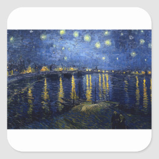 Van Gogh: Starry Night Over the Rhone Square Sticker