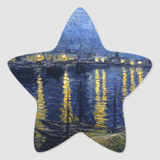 Van Gogh: Starry Night Over the Rhone Star Sticker
