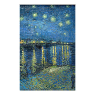 Van Gogh: Starry Night Over the Rhone Stationery Design