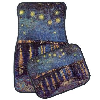 Van Gogh Starry Night Over the Rhone, Vintage Art Floor Mat