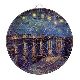 Van Gogh Starry Night Over the Rhone, Vintage Art Dart Boards