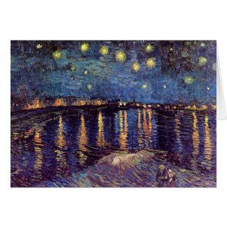 Van Gogh Starry Night Over the Rhone, Vintage Art Greeting Card