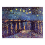 Van Gogh Starry Night Over the Rhone, Vintage Art Personalized Invite