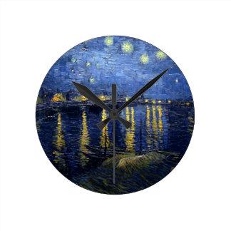 Van Gogh: Starry Night Over the Rhone Wall Clocks