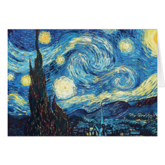 Van Gogh Starry Night Painting Card