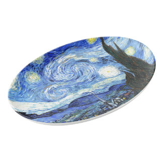 Van Gogh Starry Night Painting Serving Platter