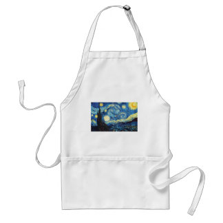 Van Gogh Starry Night Peace Love Destiny Standard Apron