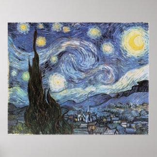 Van Gogh Starry Night Poster Vintage art