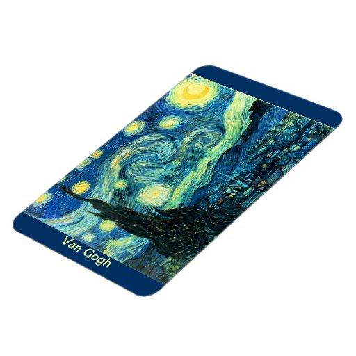 Van Gogh Starry Night Rectangle Magnets